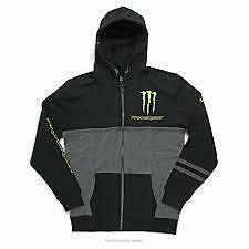 Pro Circuit Monster Energy Mens Casual Covert hoody Large black/grey CL002L