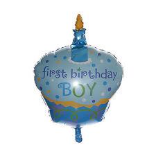 "32"" 1st BIRTHDAY CAKE GIANT FOIL BALLOON DECORATION FIRST BIRTHDAY BOY"
