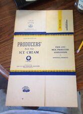 one gallon wax paper Northfield Minnesota Ice Cream Container 1950 vintage nos