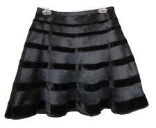 Behnaz Sarafpour for Target Women's Black w/ Velvet Stripes Circle Skirt – Sz S