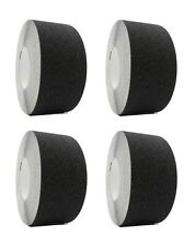 "4 rolls 3"" x 60 Black Non Skid Adhesive Tape 60 Grit Grip Anti Slip Traction"