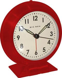 Westclox 1952 Classic Big Ben Analog Quartz Red Metallic Alarm Clock 90010RCN