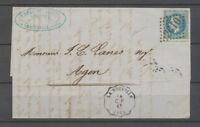 1870 Lettre conv. Station La Nouvelle C.P. + GC n° 2610 sur n°29, SUP X3861