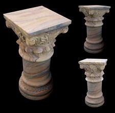Colonna Capitello in Pietra Arenaria Classica Old Classic Stone Handmade Column