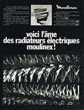 PUBLICITE ADVERTISING    1969   MOULINEX   radiateurs  éléctriques