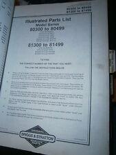 Briggs & Stratton moteur 325430 à 325438 : parts list