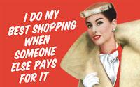 Aimant réfrigérateur drôle I Do My Best Shopping.. (ep)