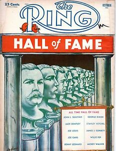1954 (Oct.) The Ring, Boxing magazine, All Time Hall of Fame ~ Fair