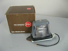 PETERSON LICENSE LIGHT WITH GLOBE AND WIRING - NEW IN BOX - AUTO ELEC SALE!