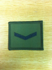 Lance Corporal Rank Patch 65mm x 55mm on olive