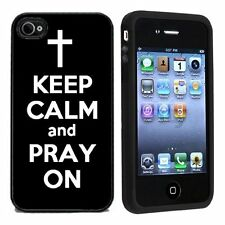 Keep Calm and Pray On For Apple iPhone 4 or 4s Case / Cover All Carriers Black