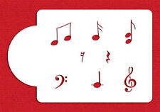 Musical Notes Set Cake Stencil by Designer Stencils #C860