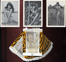 BETTIE PAGE - Bunny Yeager's Bettie Page - 50 Card Cheesecake Bad Girl Art Set