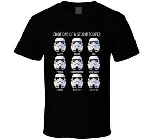 Stormtroopers Emotions Funny Star Wars Parody Fanboy T Shirt