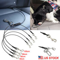 Pet Dog Travel Seat Belt Car Safety Harness Leash Lead No-Chew Restraint Strap