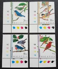 1997 Malaysia Highland Birds 4v Stamps (corner margin imprint) Mint Never Hinged
