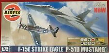 Airfix 1/72 F-15E STRIKE EAGLE/P51D MUSTANG A50041 - Brand New in Sealed Box