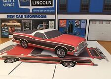 Papercraft 1974 - 1976 Ford Ranchero Squire PaperCar E Z U-build Toy Car