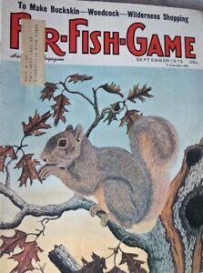 Vintage Hunting Fishing Magazine   FUR-FISH-GAME   9-73  STURN-RUGER, MARLIN