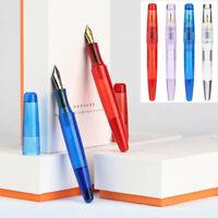 Moonman C2 Dropper Transparent Resin Fountain Pen Fine Nib F 0.5mm Office Gift