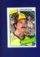Dan Briggs 1980 TOPPS Baseball #352 (NM) San Diego Padres