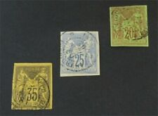 nystamps French Colonies Stamp # 35.36.43 Used $65 Signed