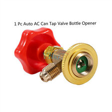 Can Tap Valve Bottle Opener Tool+Red Cap Car Auto R134a Air Refrigerant AC