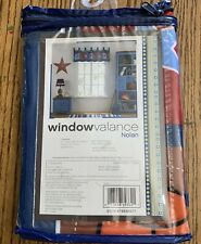 "Nolan Window Valance Kids / Baby Sports Window Treatment Bedroom Decor 17"" x 60"""