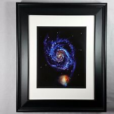 Hubble Telescope: Distant Spiral Galaxy Photo Wall Print (Matted & Framed NEW)