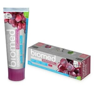 3 x Biomed Charcoal & Sensitive Enamel Strength Toothpaste 100g