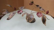Unique Trench Art Floral Sculpture made from WW11 90 mm shell 1945