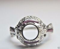 Antique Vintage Deco Ring Setting Mounting Mount Platinum Hold 6MM Engagement