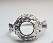 Antique Vintage Deco Ring Setting Mounting Mount Platinum Hold 6MM Engagement