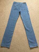 Women's Levis Curve Pale Blue Stretch Straight Jeans W26 L34 Good Condition(660)