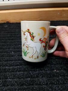 Otagiri japan Unicorn Gold Trim Moon Stars Cup Mug Vintage Collectable
