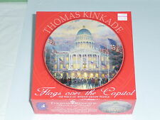 Thomas Kinkade Flags over the Capitol Round Puzzle