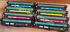 4 sets Virgin Genuine Empty HP CE340A - CE343A Toner Cartridges FREE SHIP 651A