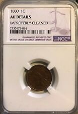 1880 Indian Cent NGC AU Details Graded Coin