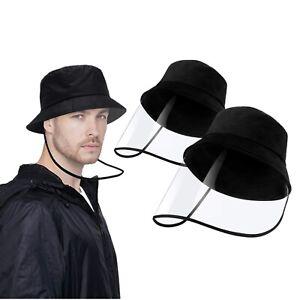 1pc Men Women Anti-saliva Protective Bucket Boonie Fisherman Cap Hat Face Shield