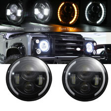 2x 7Inch Round LED Headlights Halo Angle Eyes for Jeep Wrangler JK LJ 97-2018