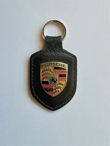Genuine Porsche Keyring - black - MADE IN GERMANY