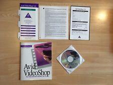 * Avid VideoShop Video Shop Software CR ROM Apple Macintosh 3.0