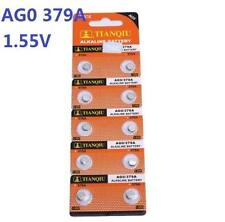 10X Batteries AG0 L521 LR63 379A SR63 Coin Button Cell Battery Watch camera t