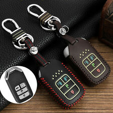 Black Genuine Leather Car Key Case for Honda Odyssey