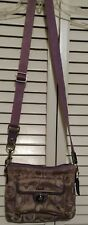 COACH Lilac Signature Nylon Crossbody/ Shoulder Bag Purse