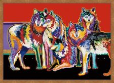 Five of a Kind by John Balloue Wildlife Animals Wolf Wolves Canvas Giclee 24x36
