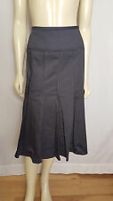 AK Anne Klein mid length professional stretch dark gray pleated skirt size 6 NWT