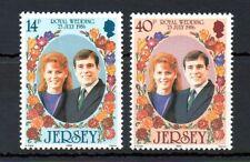 Jersey 1986 Royal Wedding MNH set