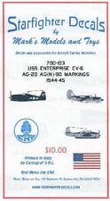 STARFIGHTER DECALS 1/700 USS ENTERPRISE CV6 AG20/AG(N)90 1944-45   700103