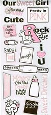 OUR SWEET GIRL Baby Scrapbook Stickers